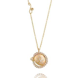 Huang Wang's Marigold Pendant Necklace   Yellow Gold   Diamonds