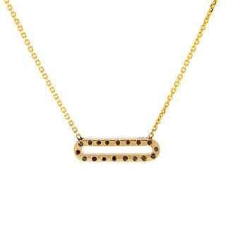 Pallina Black Diamond Necklace, 14K Yellow Gold by Anit Dodhia