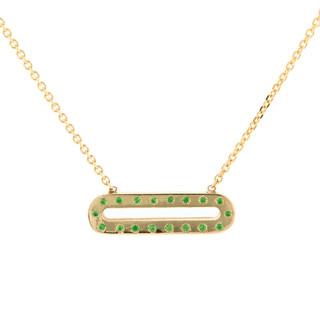 Pallina Tsavorite necklace, 14K Yellow Gold by Anit Dodhia