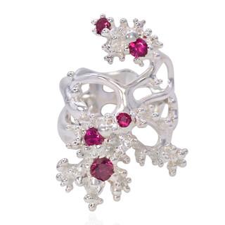 Tourmaline Phantom Ring from Aneta Zae | Silver