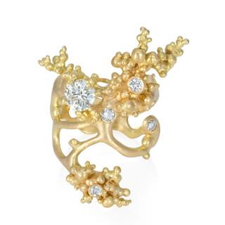 Aneta Zae's Phantom Ring | 18 Karat Yellow Gold | White Diamonds