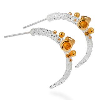 Aleksandra Vali's Transparent Aftertaste of Summer Earrings   Sterling Silver and 22 Karat Gold Vermeil