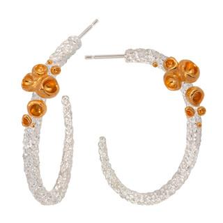 Long Aftertaste of Summer Earrings by Aleksandra   Sterling Silver and 24 Karat Gold Vermeil