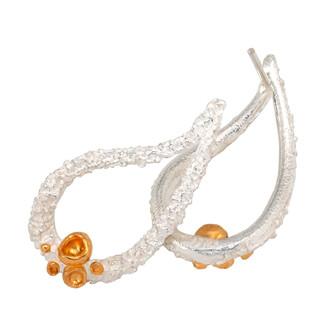 Summer Drop Earrings from Aleksandra Vali   Sterling Silver and 24 Karat Gold Vermeil