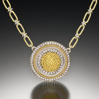 Cornelia Goldsmith's Circle of Light Necklace is the perfect start to the New Year.