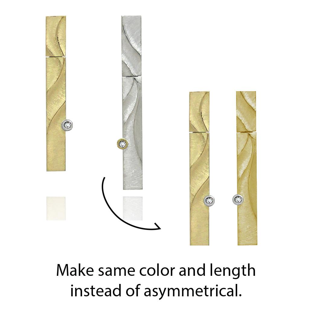 Make Both Earrings Gold and Same Length