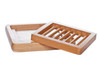 wooden soap dish TWO PIECE