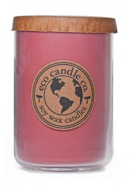 26oz soy eco candle STRAWBERRY RHUBARB