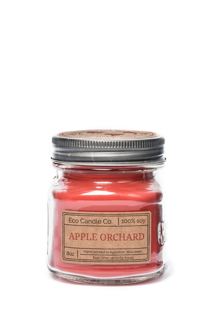 8oz soy eco candle in retro mason jar APPLE ORCHARD