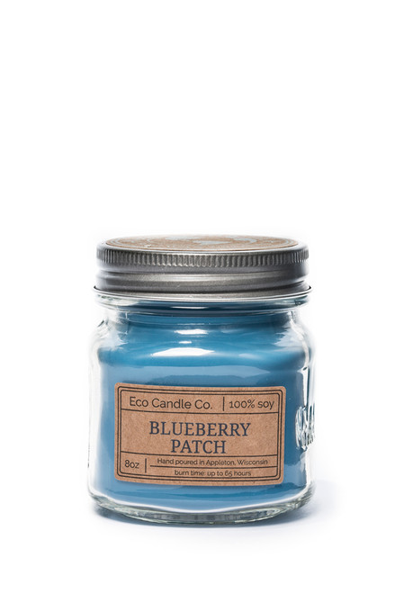 8oz soy eco candle in retro mason jar BLUEBERRY PATCH