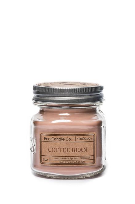8oz soy eco candle in retro mason jar COFFEE BEAN