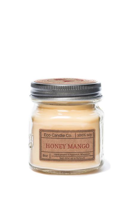 8oz soy eco candle in retro mason jar HONEY MANGO