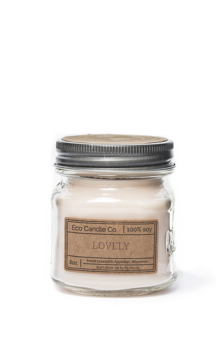 8oz soy eco candle in retro mason jar LOVELY