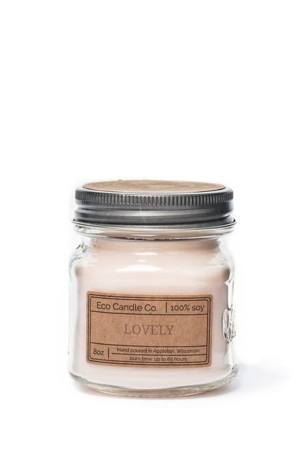 8oz soy eco candle in retro mason jar LOVELY