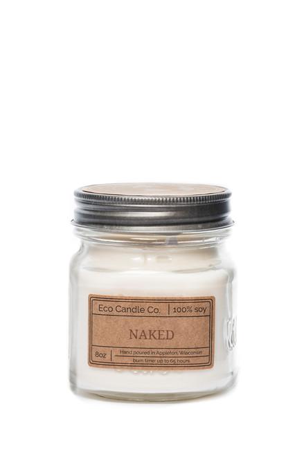 8oz soy eco candle in retro mason jar NAKED
