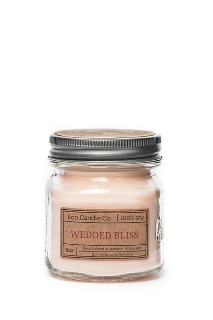 8oz soy eco candle in retro mason jar WEDDED BLISS