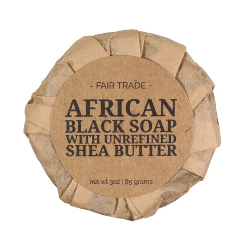 African black soap wrapped
