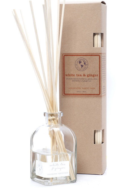 reed diffuser WHITE TEA & GINGER