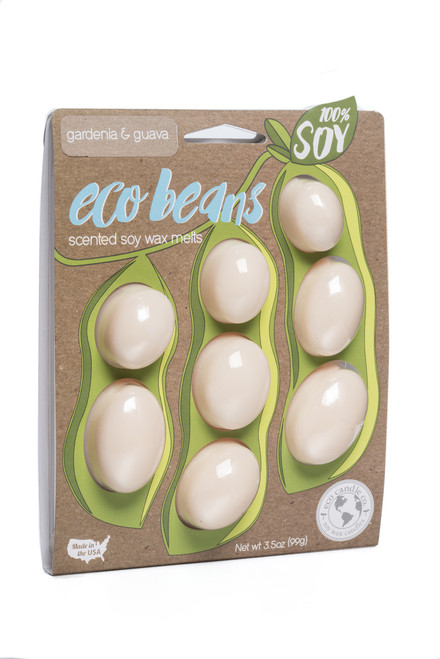 eco beans soy melts gardenia & guava