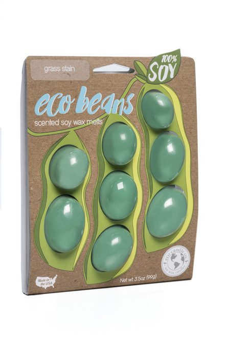 eco beans soy melts grass stain