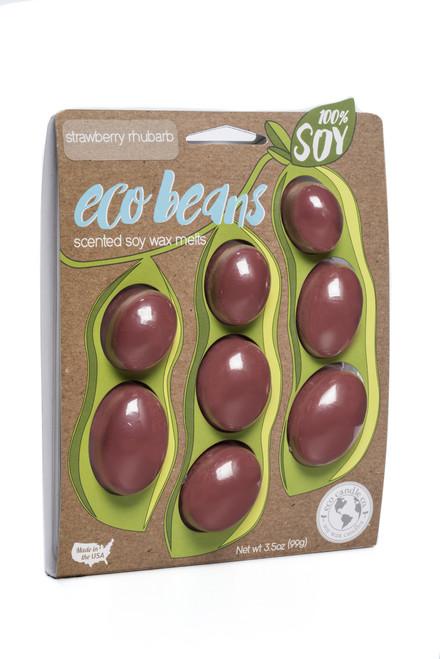 eco beans soy melts strawberry rhubarb