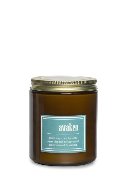 ECO ESSENTIALS soy candle AWAKEN