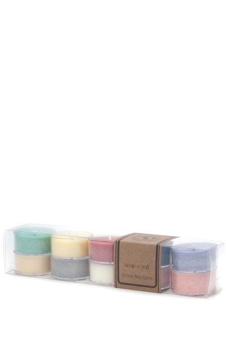 soy tea light 10pk ASSORTED