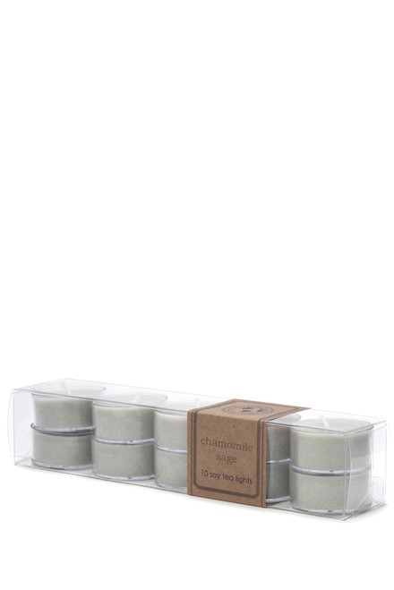 soy tea light 10pk CHAMOMILE SAGE