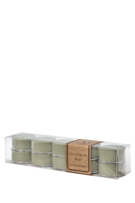 soy tea light 10pk EUCALYPTUS SAGE