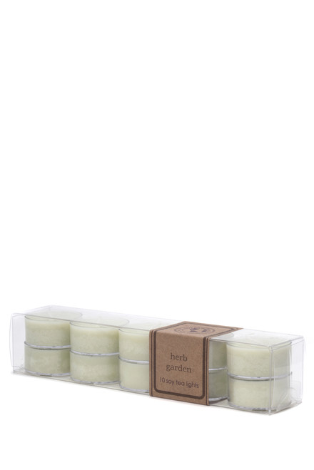 soy tea light 10pk HERB GARDEN