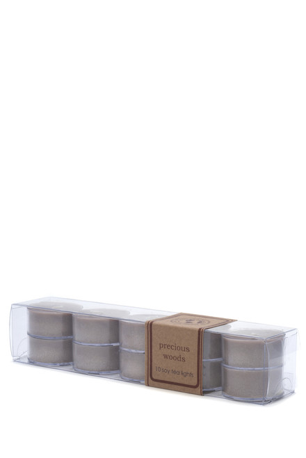 soy tea light 10pk PRECIOUS WOODS