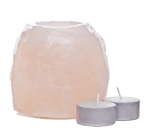 large Himalyan Salt tea light holder