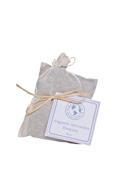 Lavender flower sachet 2 pack in muslin bag
