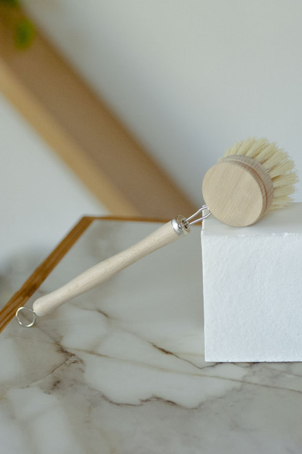 white teakwood DISH BRUSH
