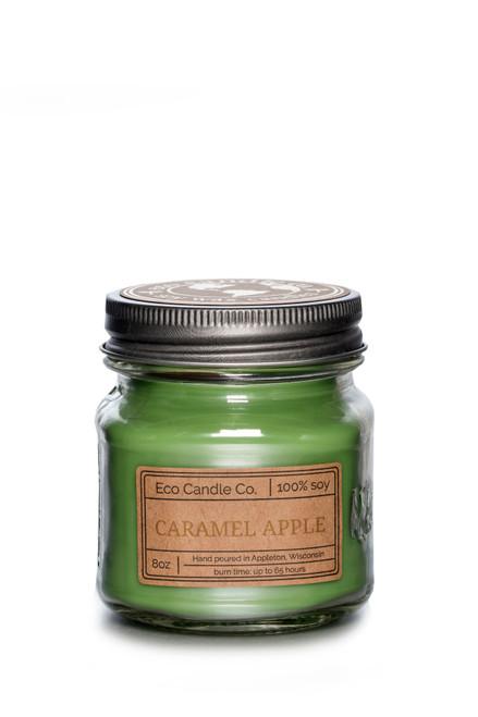 8oz mason CARAMEL APPLE soy candle by Eco Candle Co.