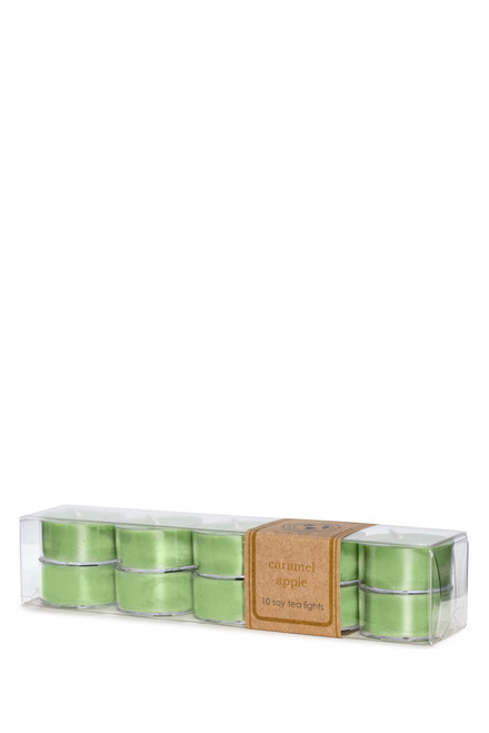 10-pack of soy tea lights CARAMEL APPLE