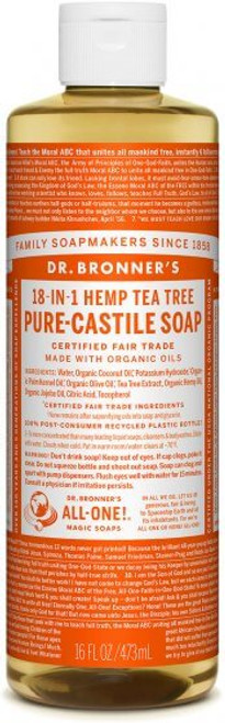 liquid castile soap TEA TREE