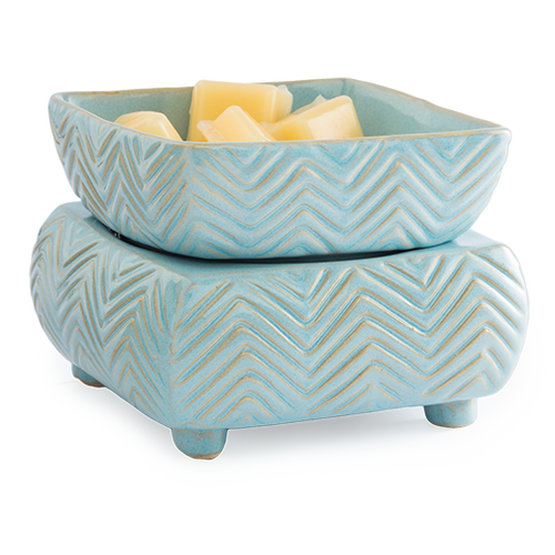 fragrance warmer BLUE CHEVRON