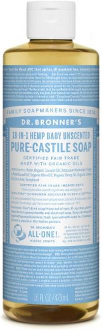 liquid castile soap  BABY UNSCENTED