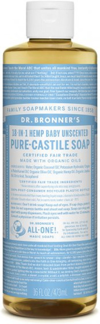 liquid castile soap  BABY UNSCENTED