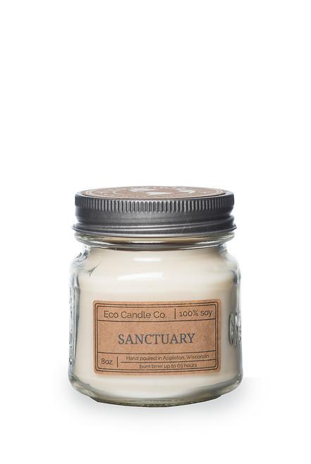 8oz soy eco candle in retro mason jar SANCTUARY