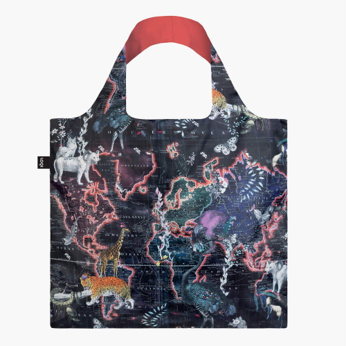 shopping bag WORLD MAP
