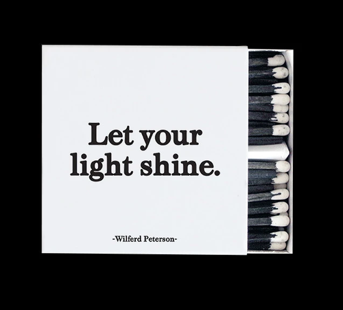 matches LET YOUR LIGHT SHINE