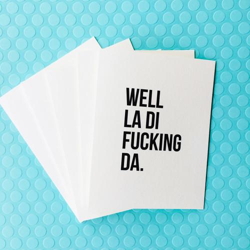 top hat card LA DI FUCKING DA