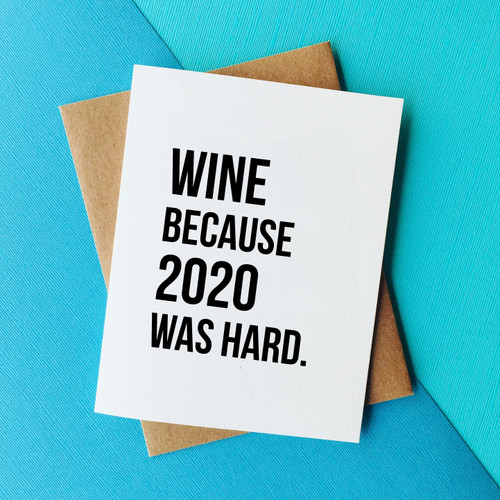top hat card WINE