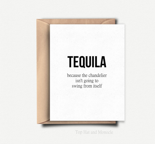top hat card TEQUILA
