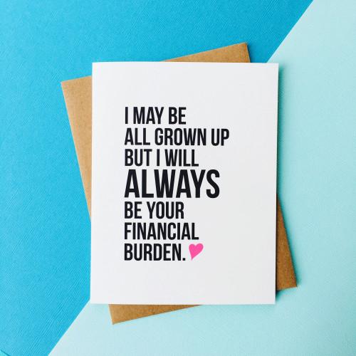 top hat card FINANCIAL BURDEN