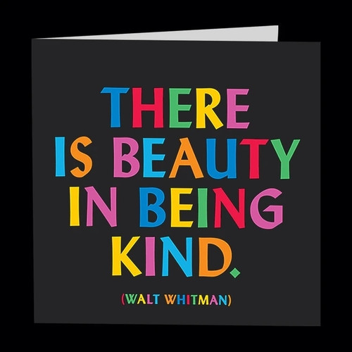 quotable card BEAUTY IN BEING KIND