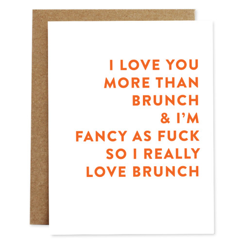 rhubarb paper co card BRUNCH
