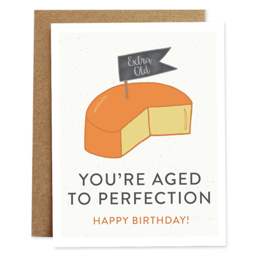 rhubarb paper co card AGED TO PERFECTION
